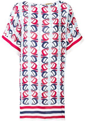 Fay printed T-shirt dress