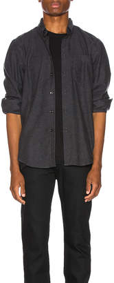 Naked & Famous Denim Easy Shirt in Charcoal Classic Flannel | FWRD