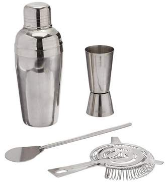 Estilo 4 Piece Stainless Steel Professional Cocktail Shaker and Bar Tool Set