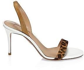 Aquazzura Women's Leopard Print Strappy Sandals