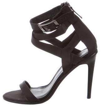 Tibi Satin Ankle Strap Sandals