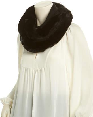 La Fiorentina Black Cashmere & Wool-Blend Infinity Scarf