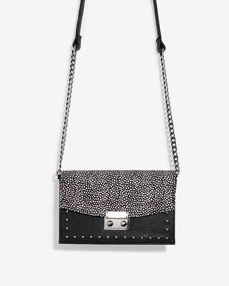 Express Cheetah Studded Event Bag