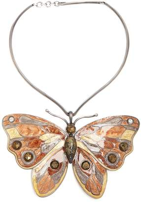 Bottega Veneta Butterfly sterling-silver necklace