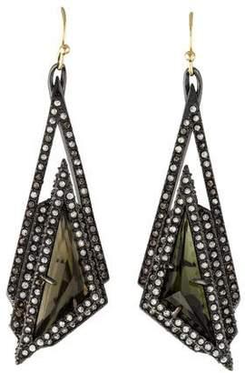 Alexis Bittar Crystal Stepped Pyramid Drop Earrings