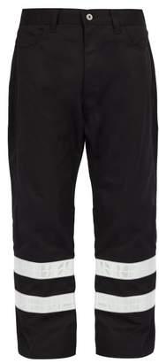 Junya Watanabe - Reflective Strip Cotton Blend Trousers - Mens - Black