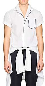 Officine Generale Men's Piped Seersucker Short-Sleeve Shirt - White