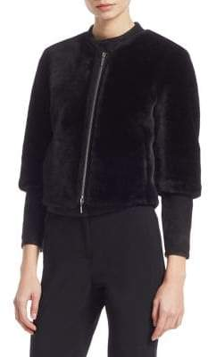 Emporio Armani Faux-Fur Hooded Bomber Jacket