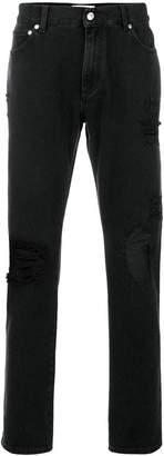 MSGM distressed slim-fit jeans