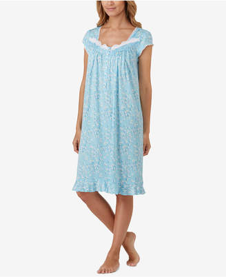 Eileen West Waltz Lace-Trim Nightgown