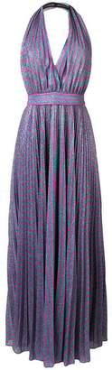 Philosophy di Lorenzo Serafini glitter stripe evening dress