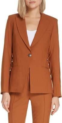 Veronica Beard Taye Lace-Up Dickey Jacket