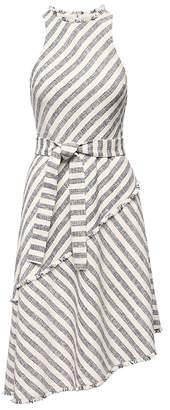 Banana Republic Tweed Stripe Asymmetrical-Hem Dress