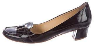 Tod's Patent Leather Buckle Pumps