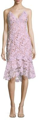 Vera Wang Floral Lace Tiered Hem Dress $325 thestylecure.com