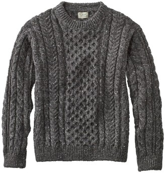 L.L. Bean L.L.Bean Men's Heritage Sweater, Irish Fisherman's Crewneck