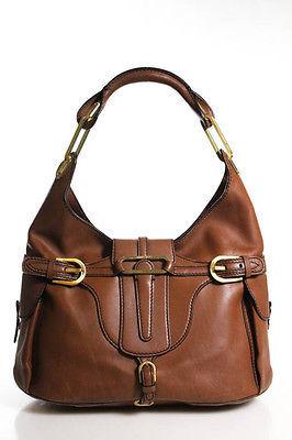 Jimmy ChooJimmy Choo Brown Leather Tulita Shoulder Handbag