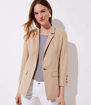 LOFT Tall 3/4 Sleeve Blazer
