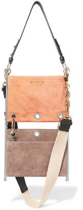 Chloé Roy Convertible Two-tone Suede And Leather Shoulder Bag - Blush