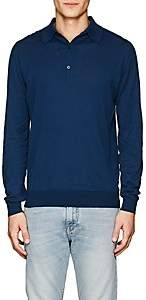 John Smedley Men's Bradwell Cotton Polo Shirt - Blue