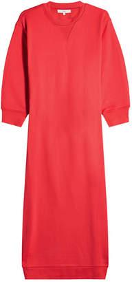 Tibi Sweatshirt Dress with Open Back