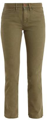 MiH Jeans Cult Mid Rise Straight Leg Jeans - Womens - Khaki