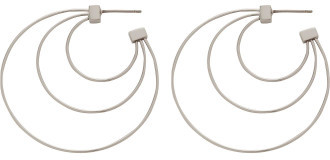 Rebecca Minkoff Statement Triple Hoop (Sm Size) Earrings