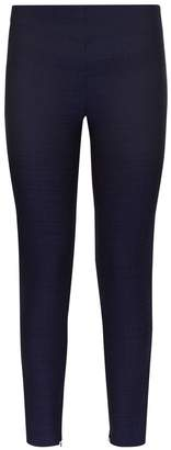 La Perla Essentials Blue Bi-Stretch Cool-Wool Jacquard Leggings