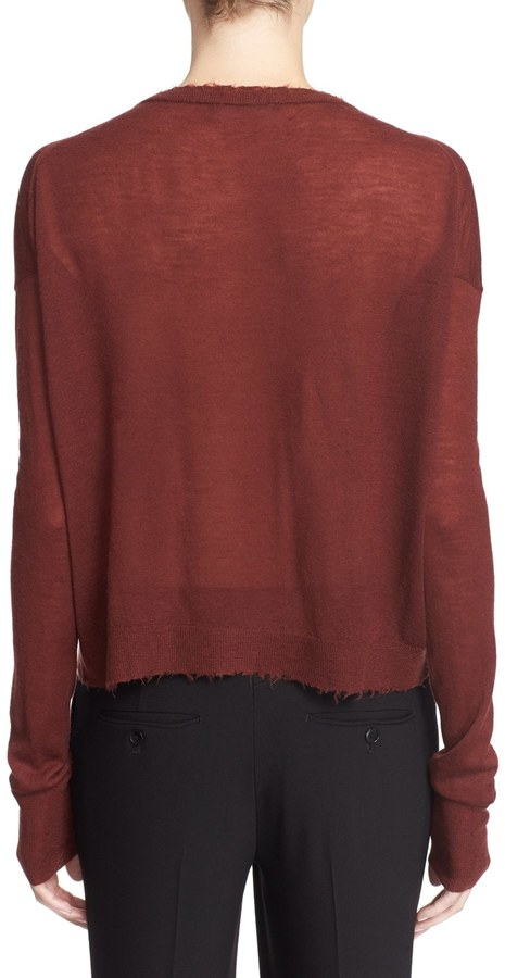 Helmut Lang Raw Edge Cashmere Crew Neck Sweater 3