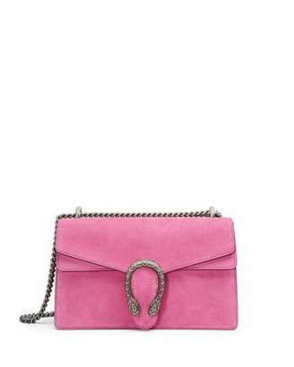 Gucci Dionysus Small Suede Shoulder Bag, Bright Pink $2,400 thestylecure.com