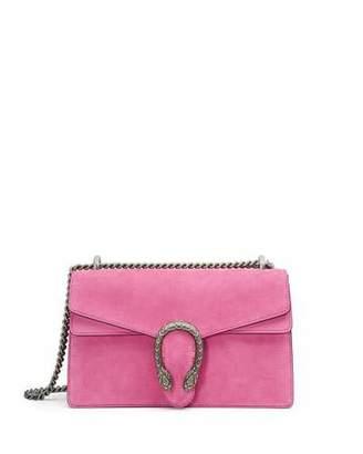 Gucci Dionysus Small Suede Shoulder Bag, Bright Pink $2,400 thestylecure.com