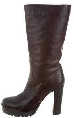 Brunello Cucinelli Leather Mid-Calf Boots w/ Tags