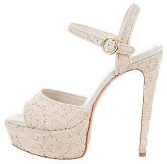 Alice + Olivia Lace Platform Sandals