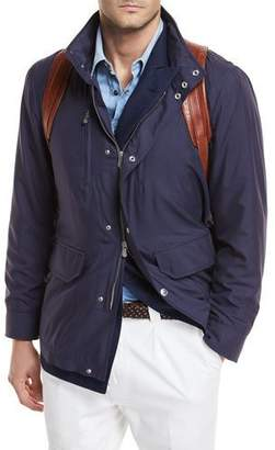 Brunello Cucinelli Technical Silk Parka with Hood