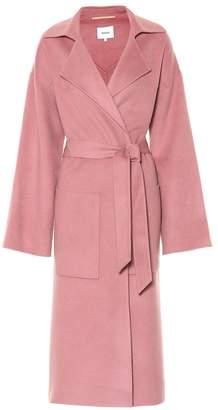 Nanushka Alamo wool and silk coat