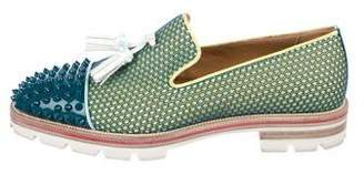Christian Louboutin Rossini Flat Spikes Loafers