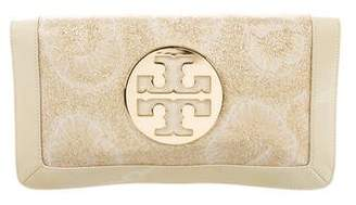Tory Burch Textured Leather Trim Bag