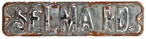 Relique Metal Street Sign Selma Rd.