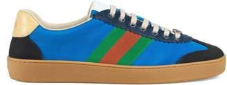 Gucci Nylon and suede Web sneaker