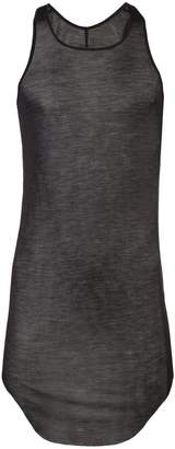 Rick Owens curved hem tank top