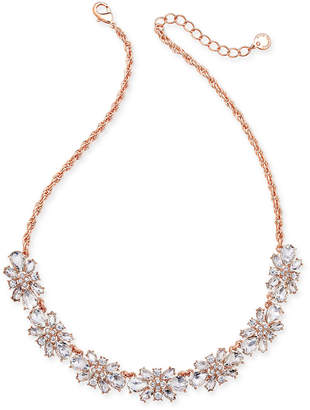 Charter Club Clear & Colored Crystal Necklace