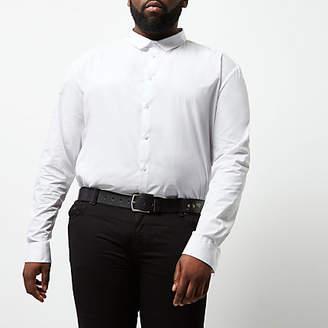 River Island Big and Tall white slim fit smart shirt
