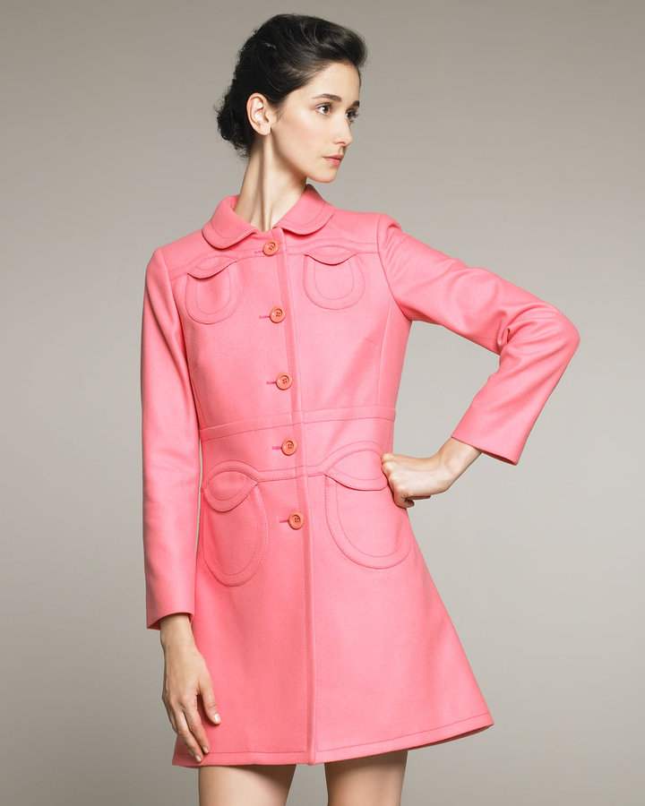 RED Valentino Patch-Pocket Swing Coat