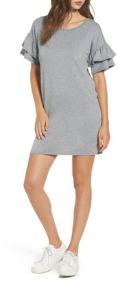 Women's Dee Elly Ruffle Knit Shift Dress $45 thestylecure.com