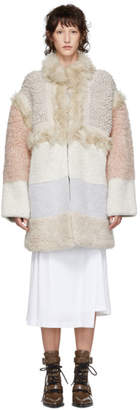 Stella McCartney Off-White Faux-Fur Oversized Coat