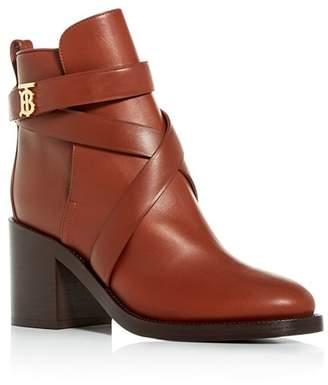 Burberry Women's Pryle Block High-Heel Booties