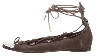 Tory Burch Suede Lace-Up Sandals