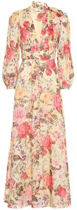 Zimmermann Honour Plunge floral linen dress