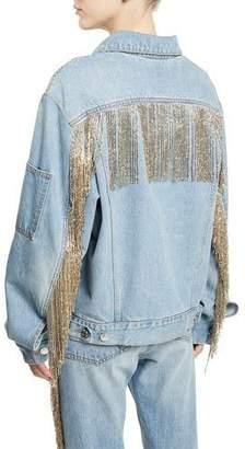 Helmut Lang Oversized Fringe Jean Jacket