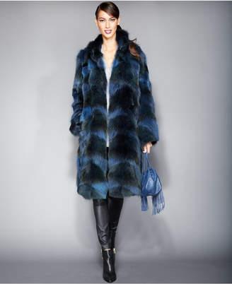 The Fur Vault Plus Size Coyote-Fur Coat